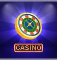 fortune symbol casino board business vector image vector image