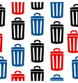 Garbage icon seamless pattern vector image vector image