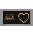 Gift Voucher Template for Valentines Day Discount vector image vector image