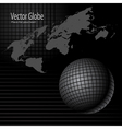 Globe and map vector | Price: 1 Credit (USD $1)