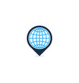 globe point logo icon design vector image vector image