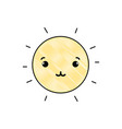grated tender and cute sun kawaii weather vector image vector image