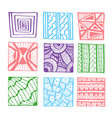 hand drawn squares for coloring book page or vector image vector image