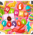 Happy Easter seamless pattern with decorative vector image vector image