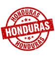 honduras red round grunge stamp vector image vector image
