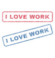 i love work textile stamps vector image vector image