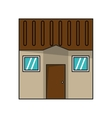 Isolated house with windows design vector image vector image