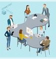 isometric coworking vector image vector image