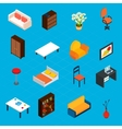 Isometric Interior Icons vector image vector image