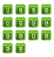 June flat calendar icons Days Of Year Set 18 vector image vector image
