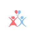 kids play logo design vector image vector image