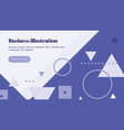 landing page template with shapes text vector image vector image