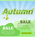 light autumn sale poster vector image vector image