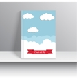 Magazine Cover with sky and clouds vector image vector image