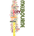 melbourne australia text background word cloud vector image vector image