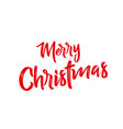 merry christmas text on a white background vector image