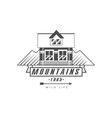 mountains logo design premium quality vintage vector image vector image