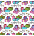 new year wrapping paper gift seamless pattern vector image vector image
