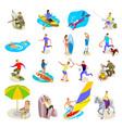outdoor activities icons set vector image vector image