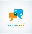 photo chat vector image