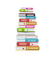 pile of books icon stack of vector image vector image