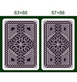 playing card back side vector image vector image