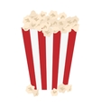popcorn in striped container icon image vector image