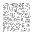 pottery studio coloring background for your vector image vector image