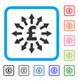 pound money distribution framed icon vector image vector image