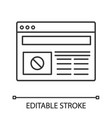 protest action internet news linear icon vector image vector image