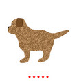 puppy icon different color vector image