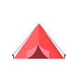 red tent with open door vector image