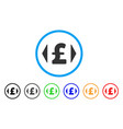 regulate pound price rounded icon vector image