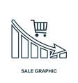 sale decrease graphic icon mobile app printing vector image