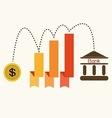 Saving moneydollar chart vector image