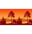 Seamless Landscape Trees on Bank of Mountain Lake vector image vector image