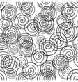 Seamless pattern from hand drawn black and white vector image