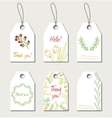 Set of floral gift tags vector image vector image