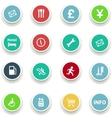 set of round icons information vector image