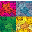 Set of seamless patterns with palm trees leaves in vector image vector image