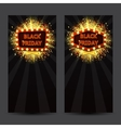 Set of vertical banners with glowing lamps for vector image vector image