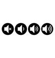 set speaker icons volume symbols sound sign vector image