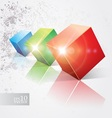 Shiny cubes vector image vector image