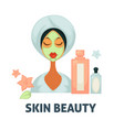skin beauty spa wellness salon icon of vector image