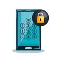 smartphone technology data digital security design vector image