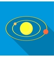 Solar system icon flat style vector image