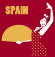 spanish flamenco dancer spanish woman holding a vector image vector image