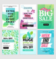 spring mobile sale banners collection vector image vector image