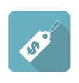 Square dollar price icon vector image