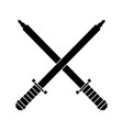 swords game weapons icon vector image vector image